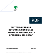 Criterios Determinacion Cotos Indirectos Operacion Inifap