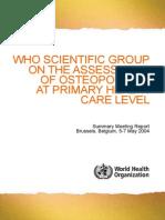 Osteoporosis Who