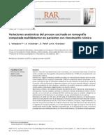 Variaciones anatómicas del proceso uncinado en tomografía computada multidetector en pacientes con rinosinusitis crónica