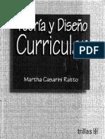 Teoria y Diseño Curricular
