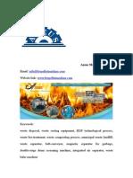 Optimum Proposal of Daily 300 Ton Waste Disposal
