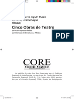 Cinco Obras de Teatro, Alberto Olguin