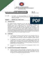 Corporate Budget Memorandum No.35