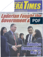 Robert MacLean Supreme Court Front Page Ladera Ranch Times - May 2, 2015