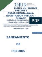 CLASE I DE SANEAMIENTO DE PREDIOS