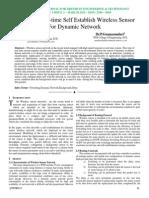 Design of Real-time Self Establish Wireless Sensor For Dynamic Network