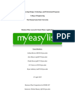 engr 407 - final myeasylist business plan