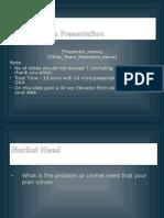 Presentation Template entrepreurship