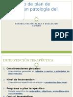 Concepto de Plan de Manejo en Patología Del CONTROL MOTOR ORAL