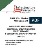 Proton Five Sequential Steps in BRANDZ Model