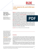 Bond Strength of Resin Cement to CO2 and Er
