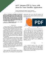PIFA Array for Nano Satellite Application