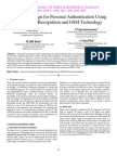 Two Step Design for Personal Authentication Using Finger Vein Recognition and GSM Technology