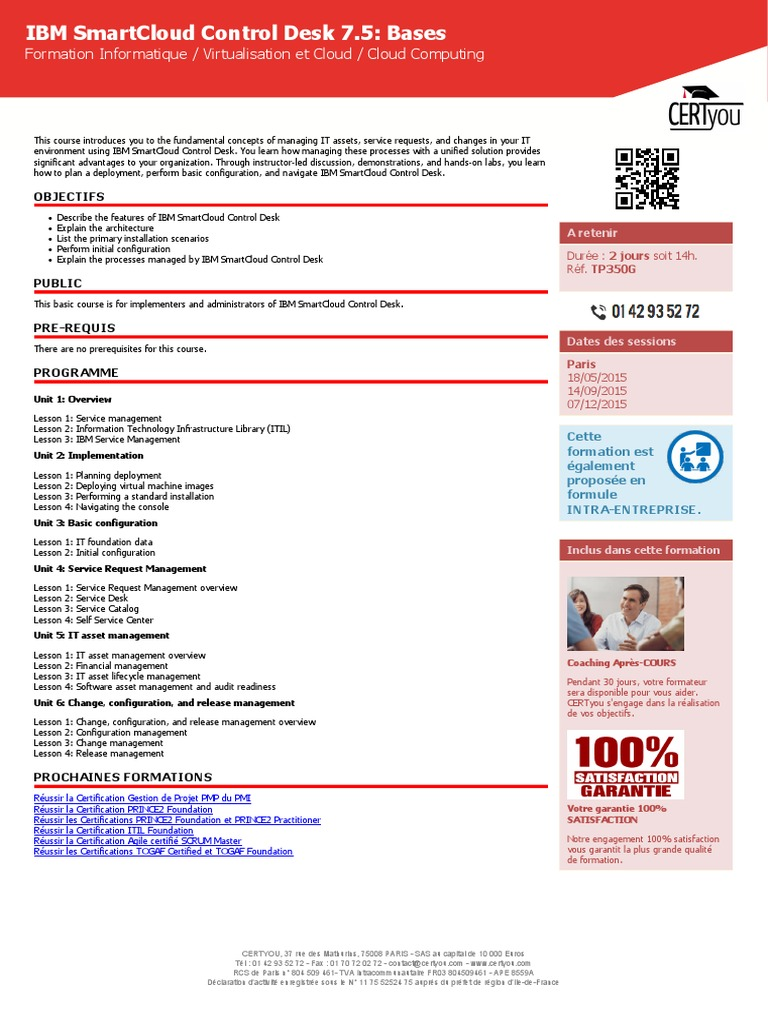 TP350G Formation Ibm Smartcloud Control Desk 7 5 Bases   Business    Information Technology Management