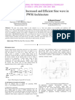 Effectiveness of Increased and Efficient Sine wave in PWM Architecture