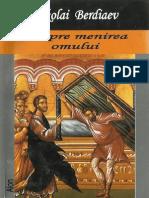 Nikolai Berdiaev-Despre Menirea Omului-Aion (2004)