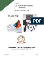 Digital Signal Processing Manual