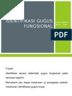 Identifikasi Gugus Fungsional