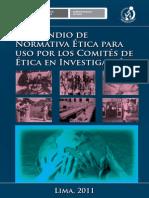 compendio de normativa etica para uso de los comites de etica e investigacion