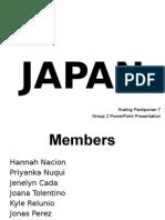 Group 2 - Japan. Powerpoint Presentation