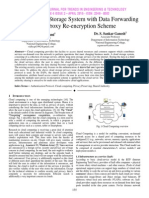 A Secure Cloud Storage System with Data Forwarding using Proxy Re-encryption Scheme