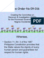 Executive Order No 09-016.ppt