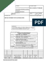 Method statement for Plastering Work