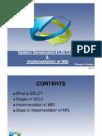 SDLC & implementation of mis