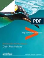 Accenture Risk Analytics Network Credit Risk Analytics