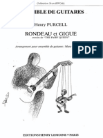 H. Purcell, Rondeau Et Gigue (Guitar Ensemble)