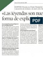 """""""Las leyendas son nuestra forma de explicar el mundo"""" (Irene Vallejo) - Heraldo de Aragón"""