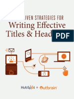 Data Driven Strategies for Writing Effective Titles and Headlines