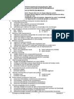 Subiecte - Grila Raspunsuri Ecologie Si Protectia Mediului
