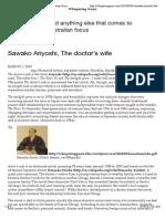 Sawako Ariyoshi, The doctor'swife | Whispering Gums