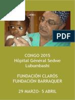 Viaje Humanitario Congo 2015