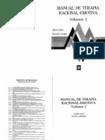 Manual de Terapia Racional Emotiva. Vol. II