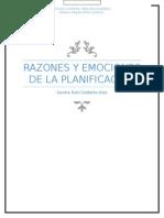 Razones y Emociones de La Planificación