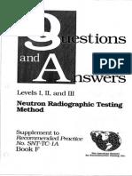 ASNT Level III Neutron Radiographic Testing Method