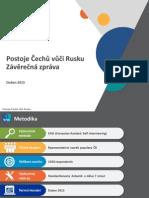 Postoj obyvatel České republiky vůči Rusku
