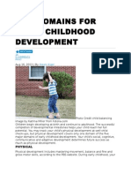 Five Domains for Early Childhood Development
