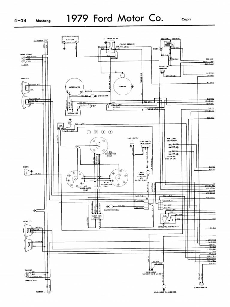 1979 Mustang Wiring Diagram | Infographics | Conceptual ModelScribd