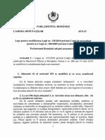 Proiect de Lege pentru Modificarea Codului de Procedura Penala si a Codului Penal