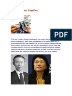 Asia Richest Families