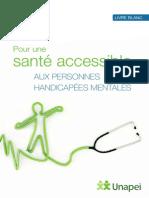 Livre Blanc Pour Une Sante Accessible Aux Personnes Handicapees Mentales