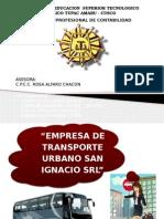Transporte Urbano San Ignacio Srl Junto