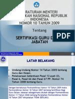 Peraturan Menteri Pendidikan Nasional Republik Indonesia Nomor
