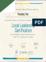 tim local leadership cert sept 2014