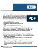 Tiered Pricing Ebsco