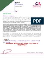 Spring 14 Newsletter