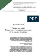 Formas Del Saber Narrativas y Poderes Diferenciales en El Paisaje Neoliberal Reguillo
